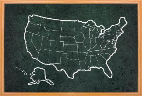 les frontieres des USA